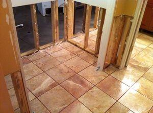 Water Damage Restoration On First Floor Bathroom