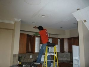 Cleaning Ceiling Water Damage After an Ice Dam Leak