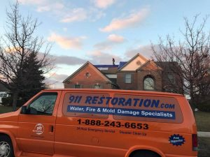 911 Restoration Team at a Residential Water Damage Job